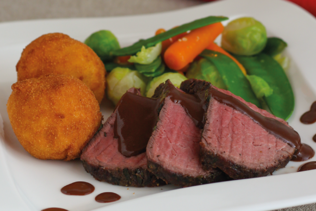 Beef Filet with Chocolate Gravy - My Blueberry Basket