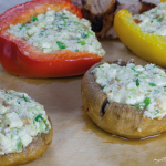photo grilled vegetables with feta