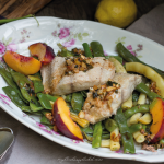 photo of catfish with beans and peaches