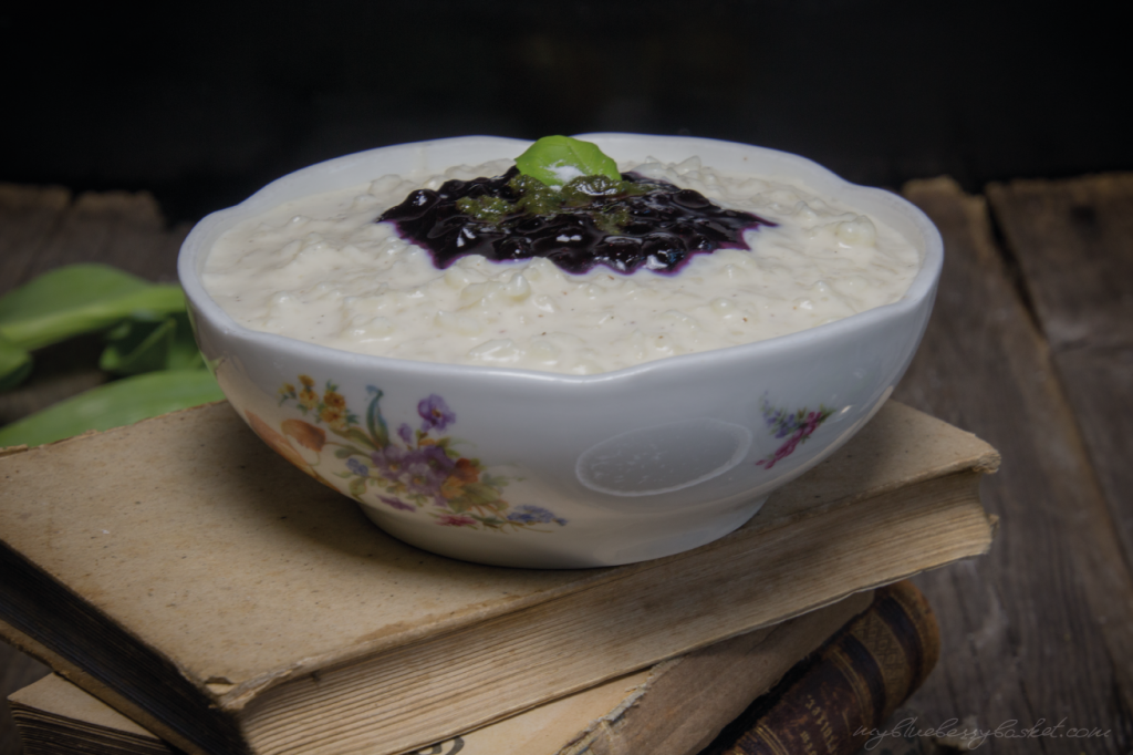 Rice Pudding with Blueberries