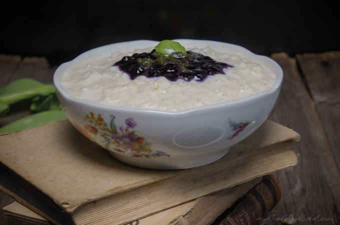 photo of rice pudding