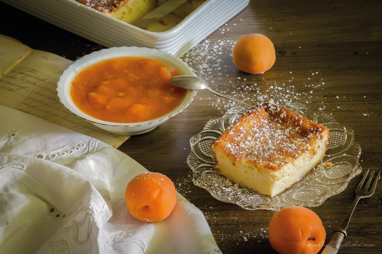 Enjoyable Curd Cheese And Semolina Pudding With Apricot Preserve Home Interior And Landscaping Eliaenasavecom
