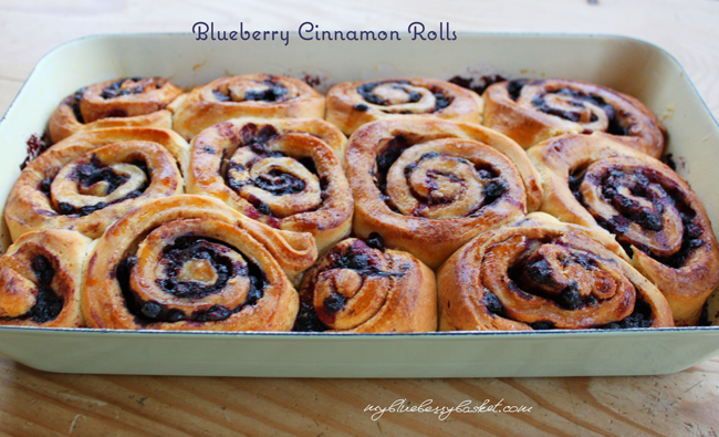 photo of blueberry cinnamon rolls