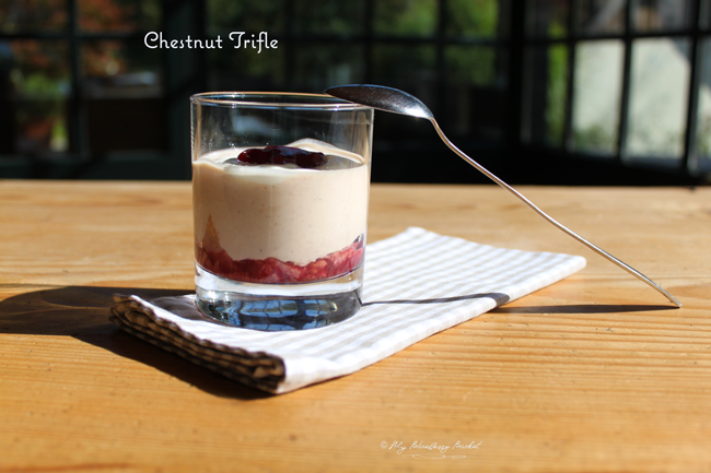 photo of chestnut trifle