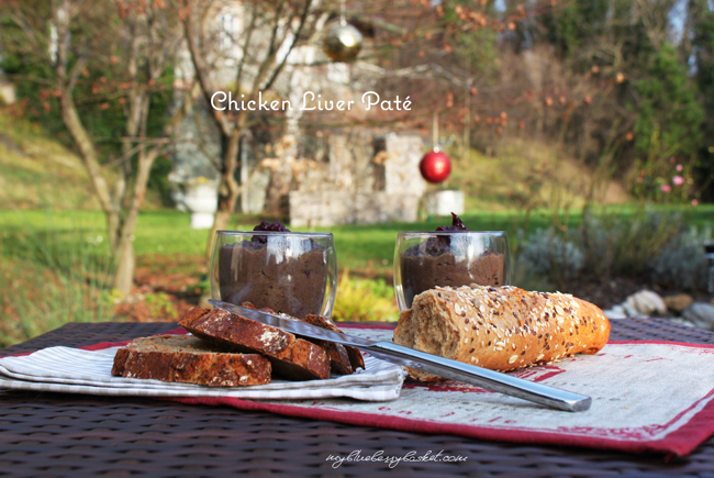photo of chicken liver pate