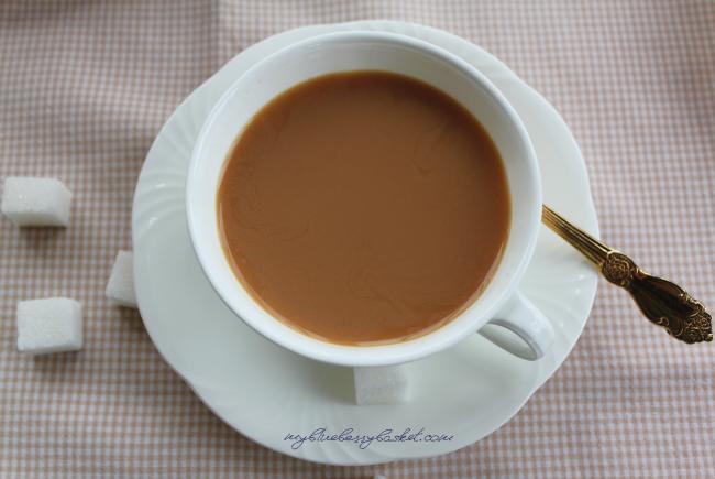 Foto einer Tasse Tee