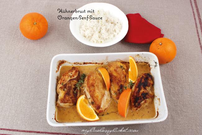 Foto von Hühnerbrust mit Orangen-Senf-Sauce
