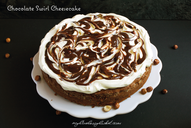 photo of chocolate swirl cheesecake