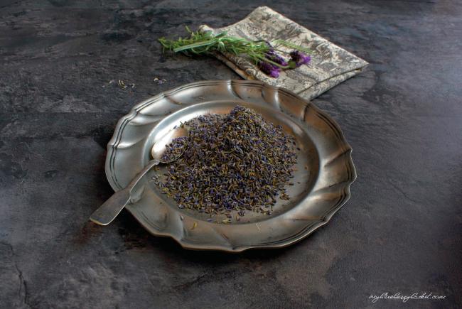 Foto von getrockneten Lavendelblüten