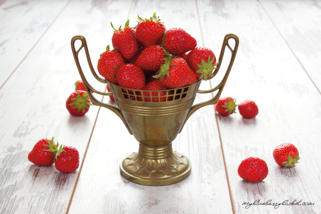 photo of strawberries in a goblet
