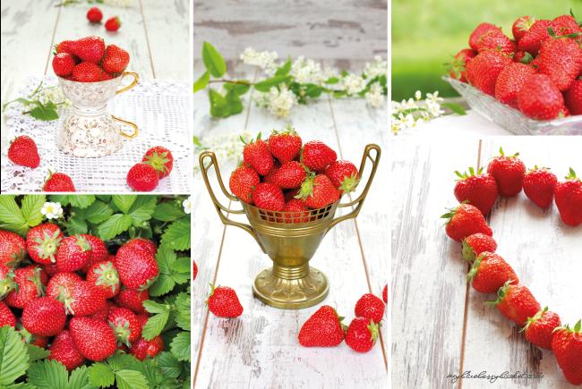 Fotos von Erdbeeren