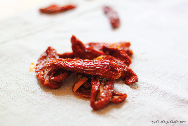 photo of dried tomatoes