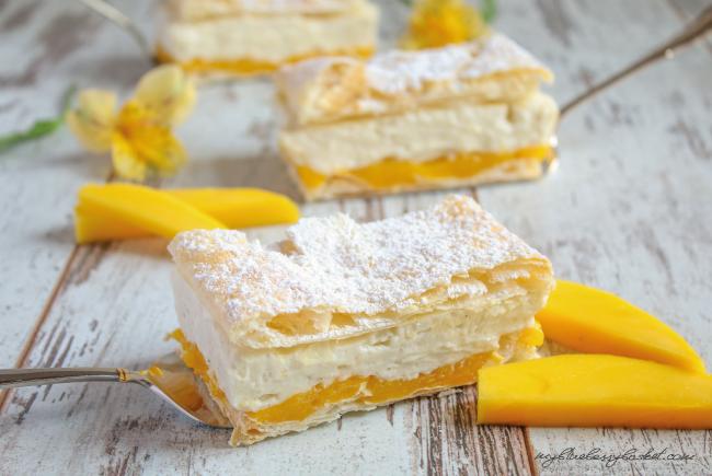 Mango-Cremeschnitten