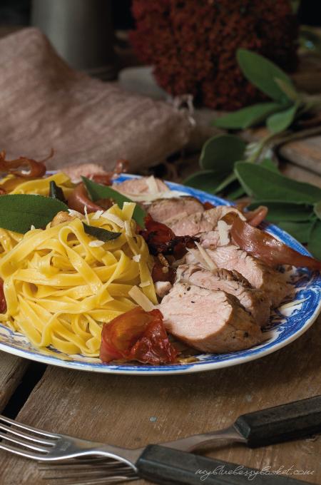 Pasta mit Salbei und Schweinefilet